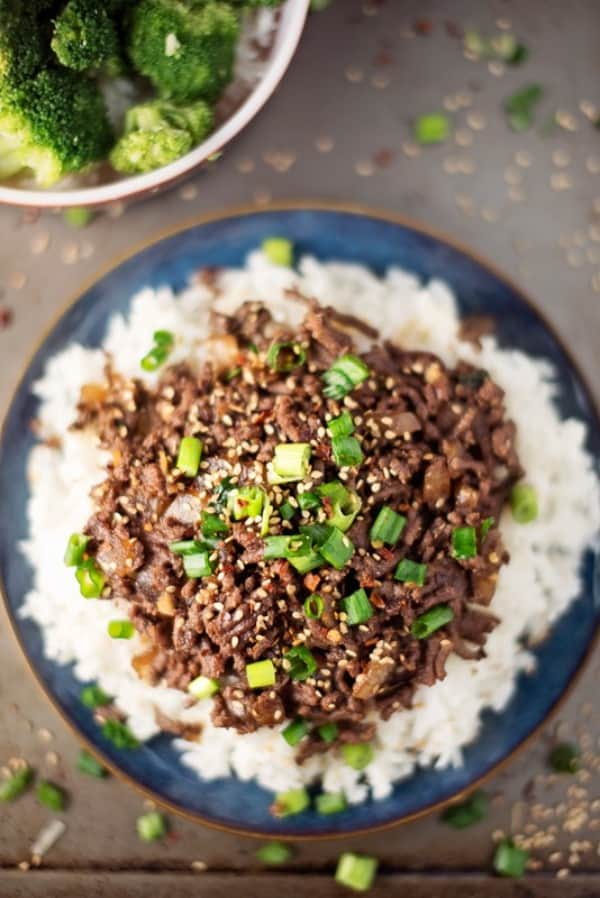 cheap family meals: Asian Beef and Rice Bowks