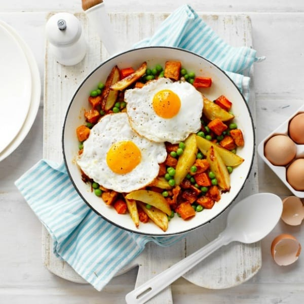 cheap family meals: Aussie Bubble and Squeak with Fried Egg Topper