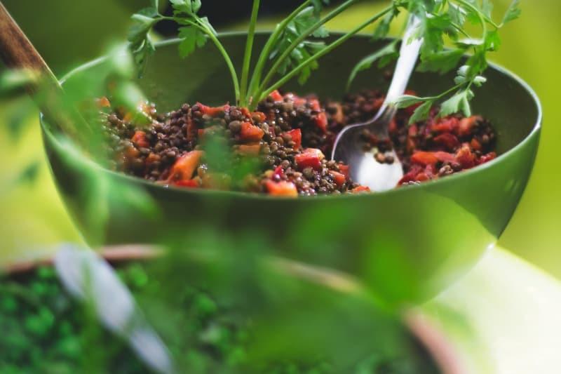 Lunch to work idea: Lentil salad