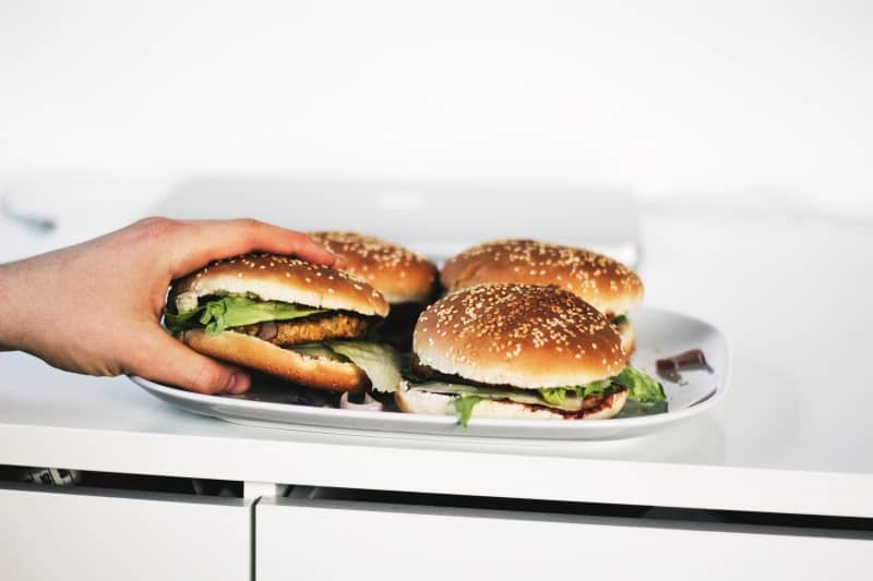 Lunch to work idea: Salmon burger