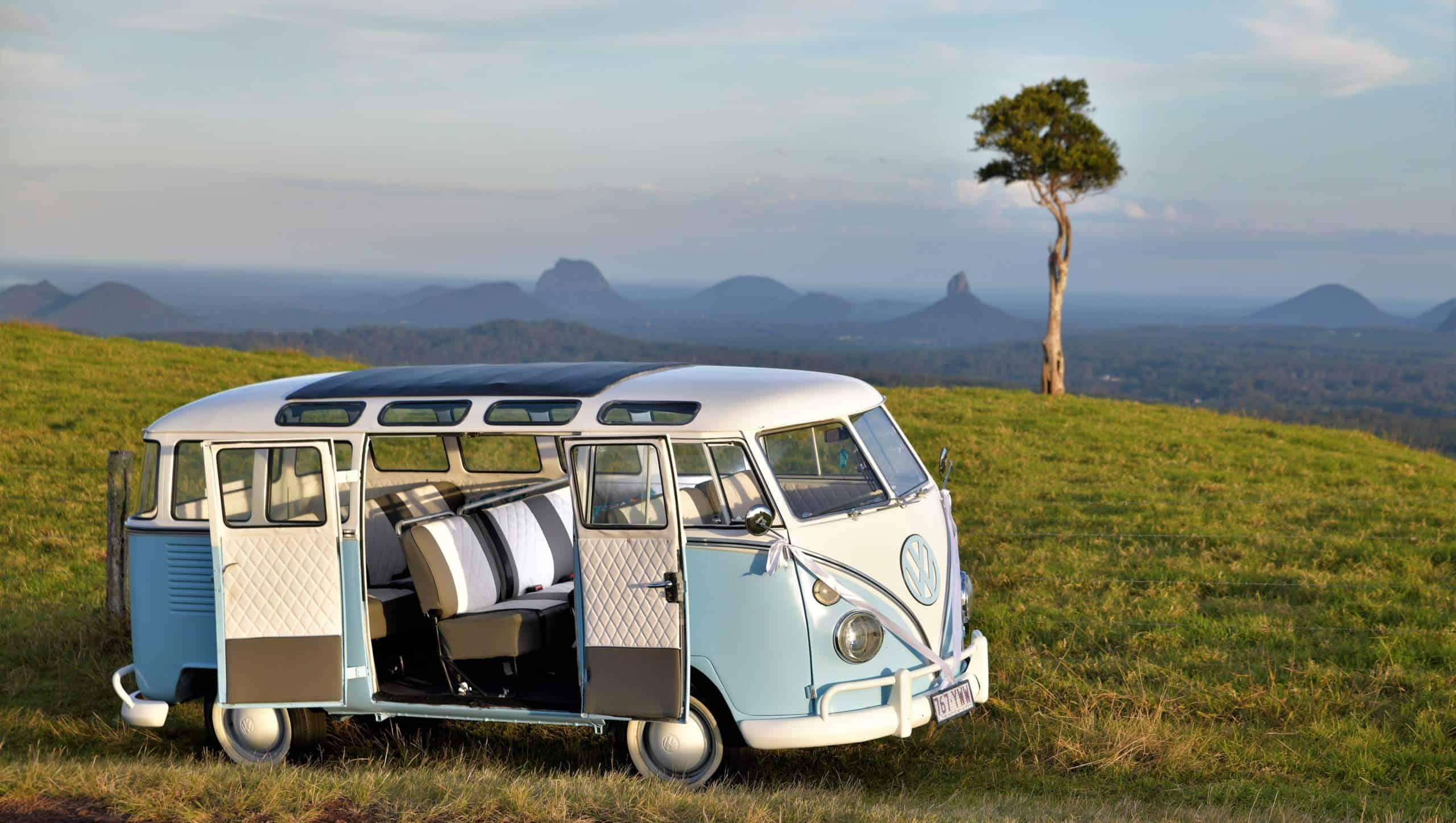 Kombi van on the sunshine coast mountaintops