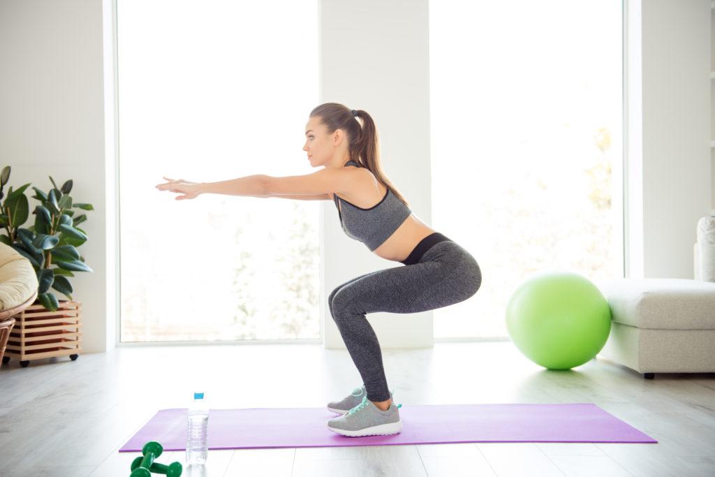 home workouts: squats